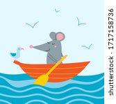 Vector Illustration Of Cute Rat ...