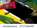 Mozambique Flag With Gardening...