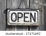 Old Open Sign