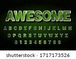 modern styled 3d trendy font... | Shutterstock .eps vector #1717173526
