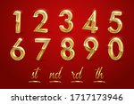 birthday golden numbers and... | Shutterstock .eps vector #1717173946