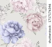 seamless floral pattern with... | Shutterstock . vector #1717176346
