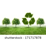 conceptual image of green plant ... | Shutterstock . vector #171717878