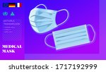 medicals masks isolated on... | Shutterstock .eps vector #1717192999