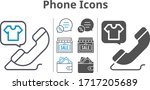 phone icon set included shop ...