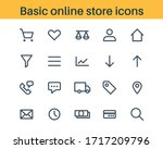 set of basic outline icons for...