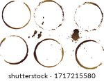 vector coffee cup stains ... | Shutterstock .eps vector #1717215580