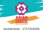 asian pacific american heritage ... | Shutterstock .eps vector #1717223356