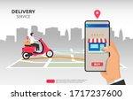 delivery service design concept....   Shutterstock .eps vector #1717237600