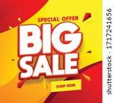 special offer banner  hot sale  ... | Shutterstock .eps vector #1717241656