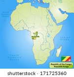 map of republic of the congo... | Shutterstock . vector #171725360