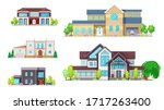 private houses and homes ...   Shutterstock .eps vector #1717263400