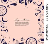vector collection of magic and... | Shutterstock .eps vector #1717265899