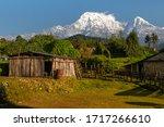Views Of Annapurnas Mountains ...