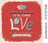 valentines day retro style... | Shutterstock .eps vector #171727130