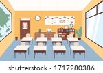empty classroom at primary...   Shutterstock .eps vector #1717280386