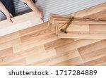 installing laminated floor ...   Shutterstock . vector #1717284889