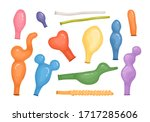 deflated or empty balloons...   Shutterstock .eps vector #1717285606