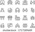 set of teamwork icons  work ... | Shutterstock .eps vector #1717289689
