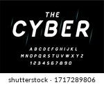 cyber style bold italic letters ... | Shutterstock .eps vector #1717289806