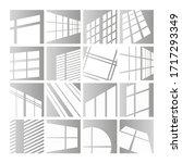 window lights vector... | Shutterstock .eps vector #1717293349