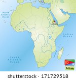 map of eeritrea with main... | Shutterstock . vector #171729518