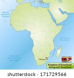 map of swaziland with main... | Shutterstock . vector #171729566