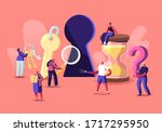 tiny male and female characters ... | Shutterstock .eps vector #1717295950