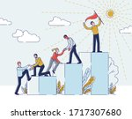 success in business or career... | Shutterstock .eps vector #1717307680