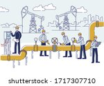 oil production  offshore and... | Shutterstock .eps vector #1717307710