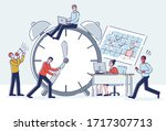 concept of time management and... | Shutterstock .eps vector #1717307713