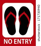 no entry in sandals | Shutterstock .eps vector #171730940