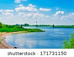 green shore of the rhine in... | Shutterstock . vector #171731150