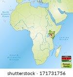 map of kenya with main cities... | Shutterstock . vector #171731756