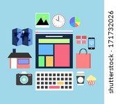 applications graphic user... | Shutterstock . vector #171732026