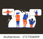 pensive people concept. man and ...   Shutterstock .eps vector #1717336009