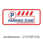 parking signs on a white... | Shutterstock .eps vector #1717337176