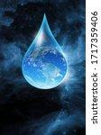Glass Globe Inside Water Drop...