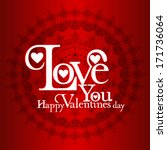happy valentines day and... | Shutterstock .eps vector #171736064