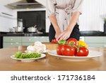 fresh ingredients on various... | Shutterstock . vector #171736184