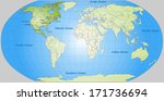 map of north america with main... | Shutterstock . vector #171736694