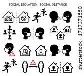 social isolation  social... | Shutterstock .eps vector #1717371550