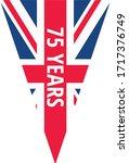 ve day ww2 anniversary 75th logo | Shutterstock .eps vector #1717376749