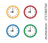 wall clock icon. time icon   Shutterstock .eps vector #1717383760