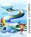 illustration of an elf near the ... | Shutterstock .eps vector #171738923