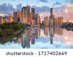 Brisbane. Cityscape image of Brisbane skyline during sunrise in Australia.