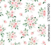 seamless pattern with... | Shutterstock . vector #1717409920