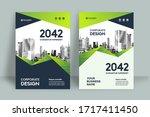 corporate book cover design... | Shutterstock .eps vector #1717411450