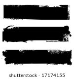 grungy banners ready for your... | Shutterstock .eps vector #17174155