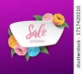 sale background with beautiful... | Shutterstock .eps vector #1717420210